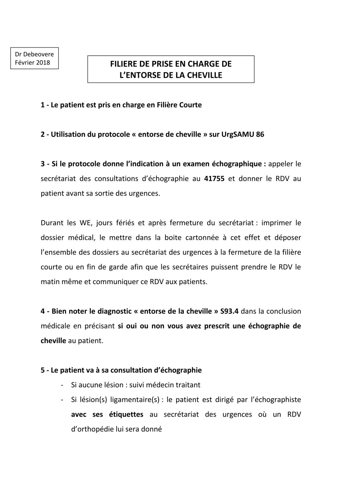 Protocole Entorse de cheville-1